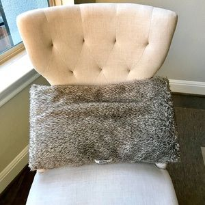 DKNY furry rectangle throw pillow